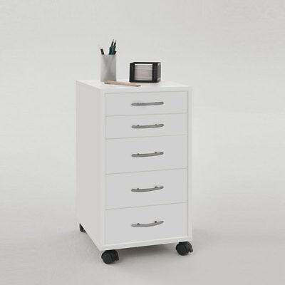 Bürocontainer Rollcontainer Freddy Rollschrank Rollwagen in weiß