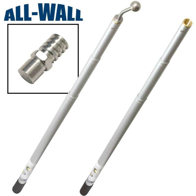 New Drywall Tool EXTENDABLE Handle Set - Fits Angle Head, Corner Roller, Sander