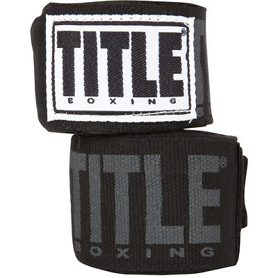 "Title Boxing Power-Flex Elite 180"" Fist Wraps - Black for sale  Shipping to India"