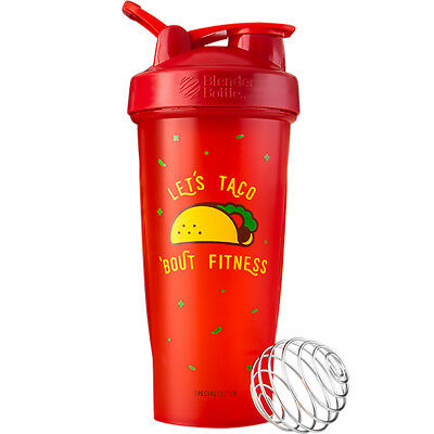 (Blender Bottle Special Edition 28 oz. Shaker with Loop Top - Taco 'Bout Fitness)