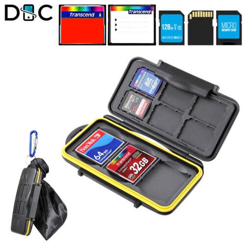 Memory Card Case Holder Storage 6 SD 3 CF Cards Water Resistant Shock Resistant