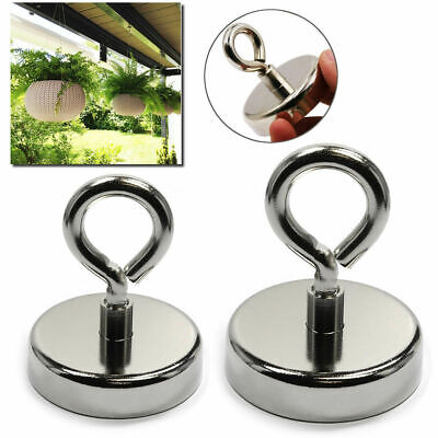 Recovery Magnet Hook Strong Sea Fishing Diving Treasure Hunting Eyebolt Or Rope