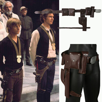 Luke Skywalker Halloween Costumes (Star Wars Luke Skywalker Belt Adjustable Cosplay Costume Prop Gun Holster)