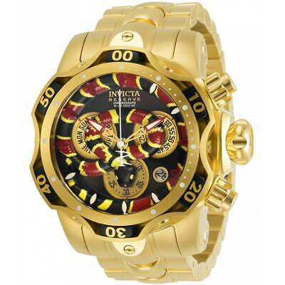 Invicta Men's Watch Reserve Venom Cobra Chronograph Yellow Gold Bracelet 30312