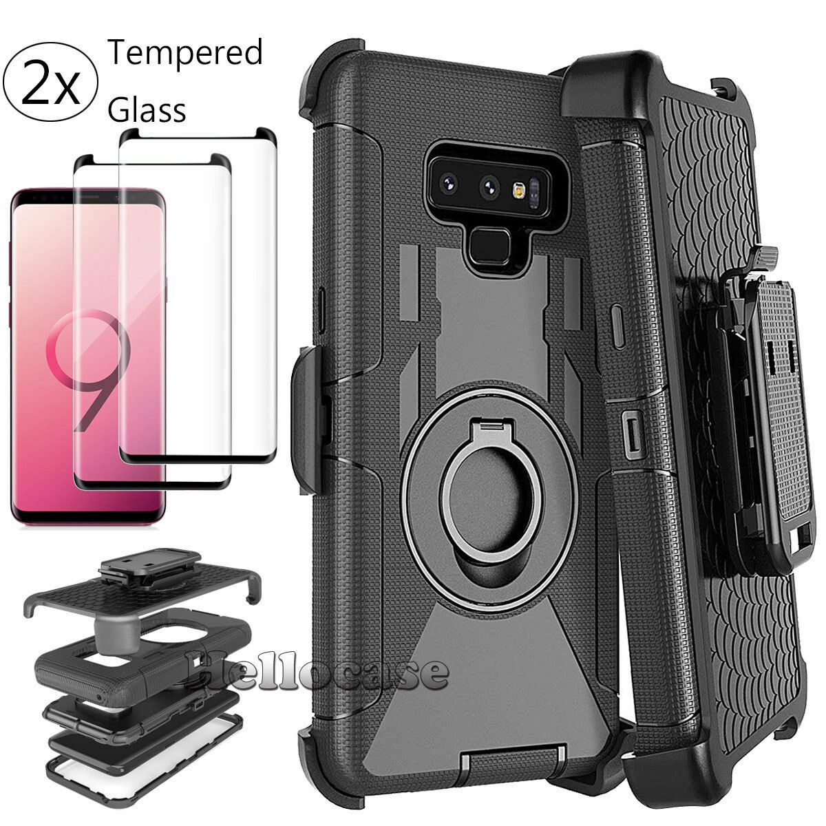For Samsung Galaxy Note 9 Defender Case With Belt Clip Holster Screen Protector