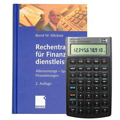 Finanzrechner HP-10 BII+ mit Buch -Rechentraining für Finanzdienstleister-