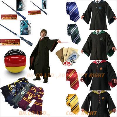 Harry Potter Kostüm Umhang Schal Krawatte LED Zauberstab - Halloween Schal