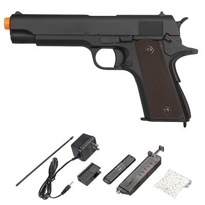 Lancer Tactical 7123 1911 Style Gun Electric Airsoft Pistol + Battery + Charger