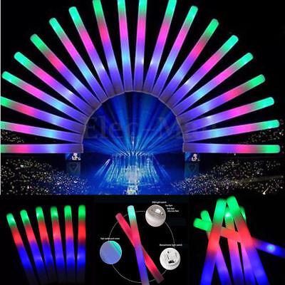100 PCS Light Up Foam Sticks LED Wands Rally Rave Batons DJ Flashing Glow Stick - Flashing Wand