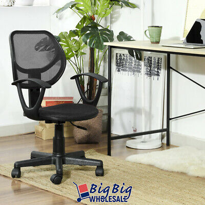 Modern Office Chair Black Mesh Ergonomic Mid-back Excecutive Computer Desk Seat