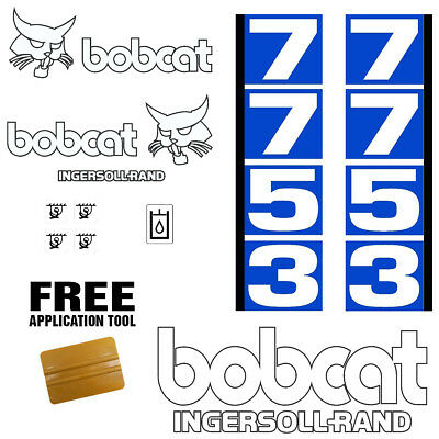 Bobcat 7753 Skid Steer Set Vinyl Decal Sticker 13 Pc Set Free Applicator