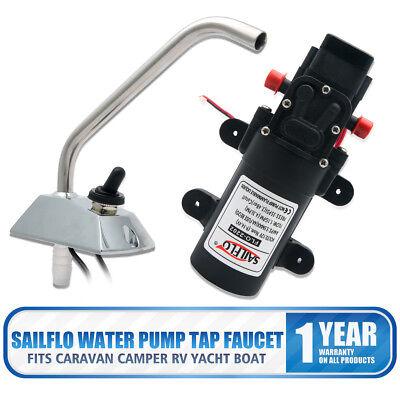 Sailflo 12v Self-priming Galley Electric Water Pump Faucettap Boatcaravan Rv