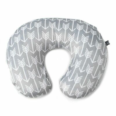 Kids N Such Arrow Nursing Pillow Cover Gray and White Arrow Print-Boppy cover
