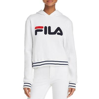 Fila Womens Rosemary White Fitness Workout Training Hoodie Athletic L BHFO 3543