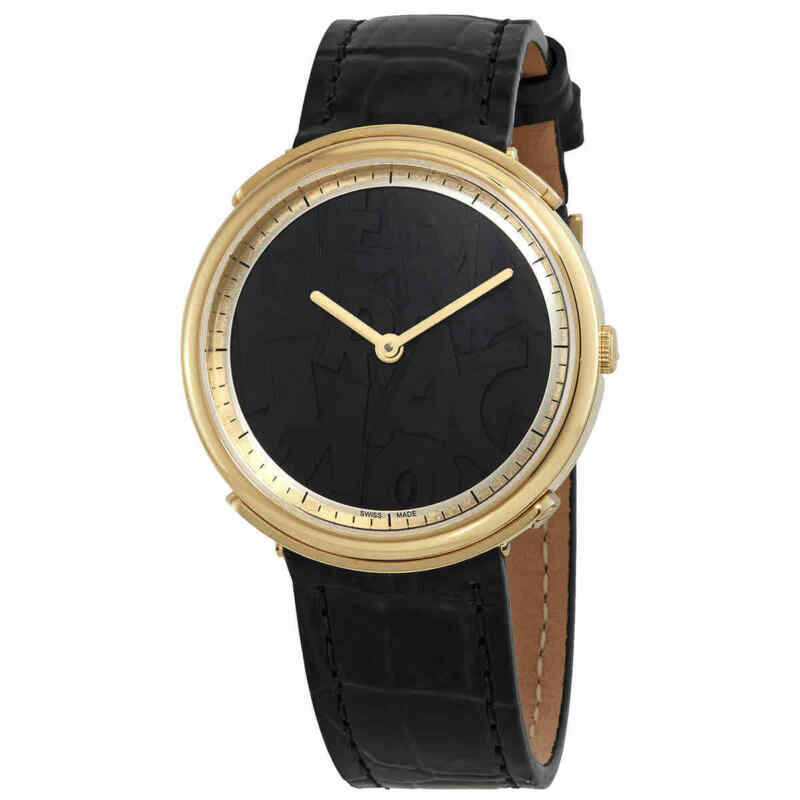 Salvatore Ferragamo Logomania Quartz Black Dial Ladies Watch FFY020017