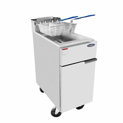 Heavy Duty Ss Commercial Deep Fryer By Atosa - 40 50 . 75 Lbs Capacity