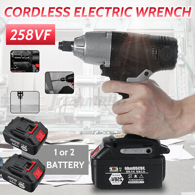Cordless Brushless Electric Impact Rechargeable Wrench Screwdriver Power Too