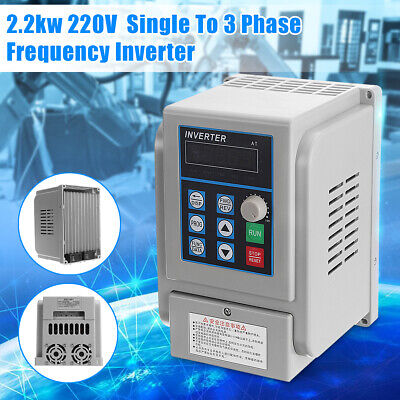 Us Upgrate 2.2kw 3hp Single To 3 Phase Variable Frequency Drive Inverter