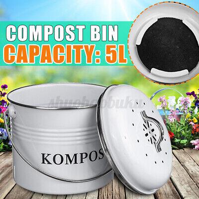 5l compost bin bucket pail garden kitchen