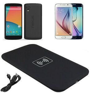 chargeur sans fil universel induction qi wireless kit charger charging pad usb ebay. Black Bedroom Furniture Sets. Home Design Ideas