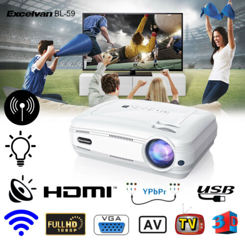 BL-59 Android 3D 1080P HD LED Home Theater Projector Multime