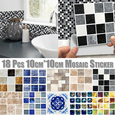 Decorative Kitchen Wall Tiles (Kitchen Bathroom Tile Mosaic Stickers Self-adhesive Waterproof Home Wall)