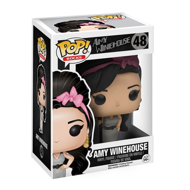 Amy Winehouse Collectible 2016 Funko Pop Rocks! Vaulted Figure #48 Pop Protector