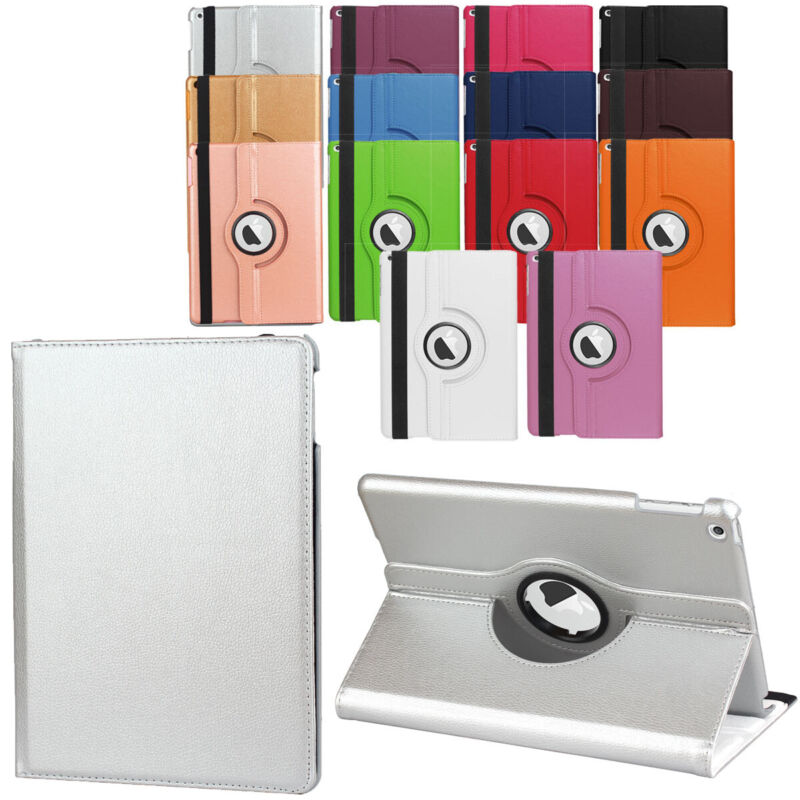 Flip Leather Case For iPad 5th 6th Generation 9.7 inch 360 Rotating Stand Cover