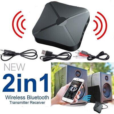 2in1 Wireless Bluetooth Audio Transmitter Car Receiver HIFI MP3 Adapter RCA