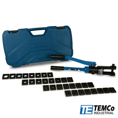 Temco Industrial Hydraulic Cable Lug Crimper Th0005 V2.0 -11 10 Awg To 600 Mcm