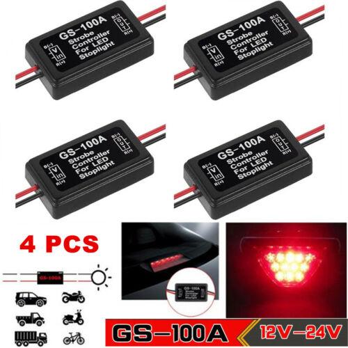 4 PCS Flash Strobe Controller Box Flasher Module for LED Brake Tail Stop Light Car & Truck Parts