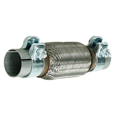 Edelstahl Flexrohr (Flexrohr 50x150 mm Flexteil Edelstahl Rohr +2x Schellen Montage ohne Schweißen)