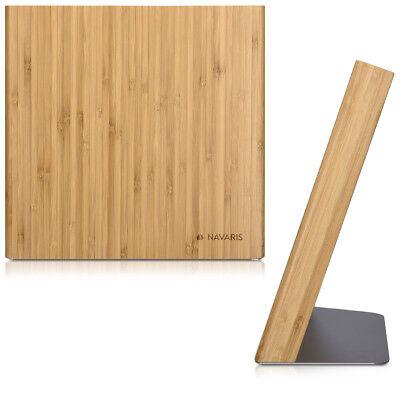 Messerhalter magnetisch Messerbrett aus Bambus Magnet Messerblock Magnethalter