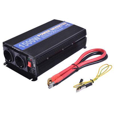Convertidor Inversor de Corriente 1500W 3000W 12V DC a 220V AC Transformador+USB
