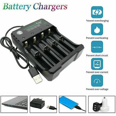 4 Slot Intelligent Vape Battery Charger 18650 14500 18350 Li-ion NEW