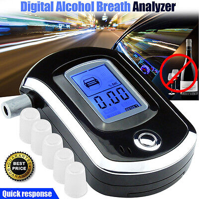 LCD Digital Police Breath Alcohol Tester Analyzer Detector Breathalyzer Advanced