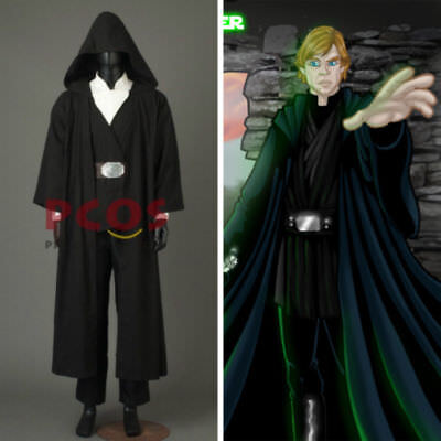 NEW The Last Jedi Luke Skywalker Projection Crait Cosplay Costume Outfit custom