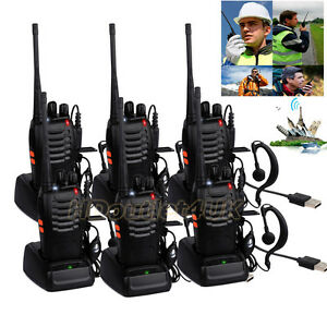 6X Baofeng Walkie Talkie UHF 400-470MHZ 2-Way Radio 16CH BF-888S Long Range 5W