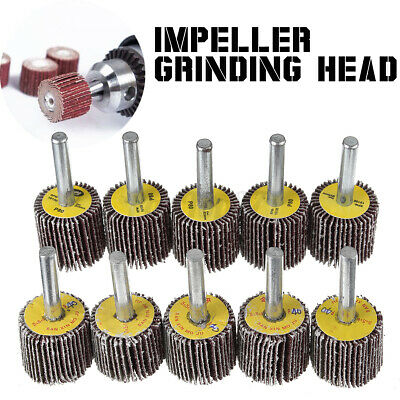 Flap Wheel Disc Sanding Abrasive For Drill 6mm Shank 5pcs 40 5pcs 80 Grit