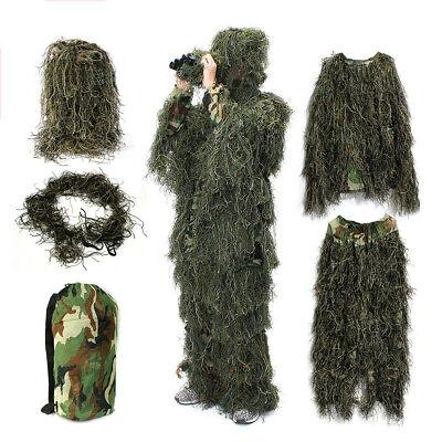Kids Adult Woodland Camo Ghillie Suits 3D Sniper Jungle Forest Hunting Hide Suit](Kids Ghillie Suit)