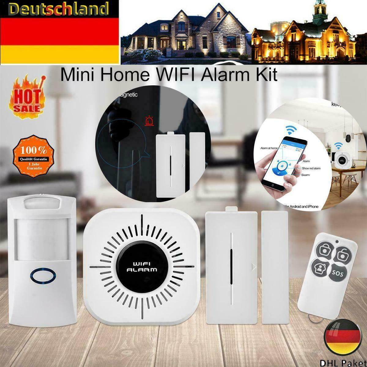 1X WIFI WLAN Haus Alarmanlage / Sicherheitssystem mit APP Steuerung Starter Set