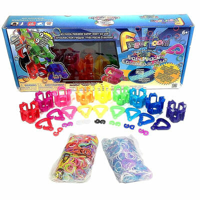 Loom Party Pack Rainbow Finger New Rubber Band Bracelet Kids Band Maker Kit Toy ()