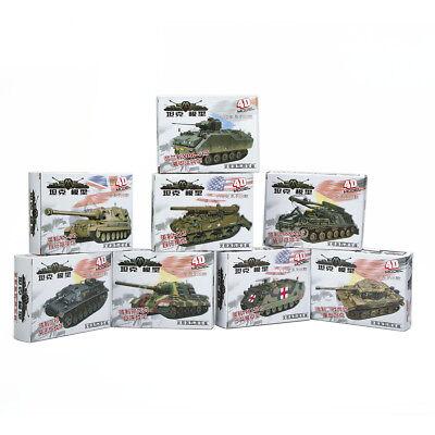 Heavy Weapons Armor Assemble Tank 4D 8pcs 1/72 Plastic Model US Kit Battle Toy
