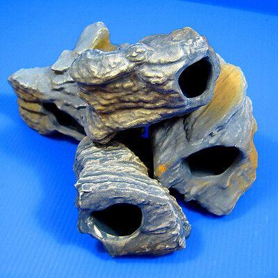 5pcs CICHLID STONE Ceramic Aquarium Ornament Rock set Cave decor fish tank moss