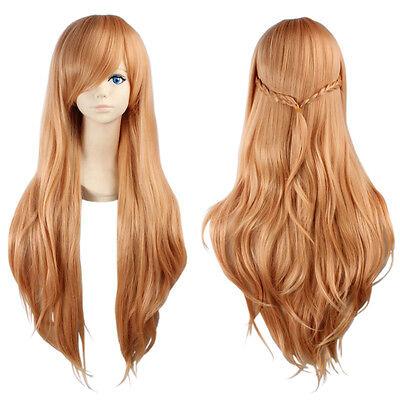 Sword Art Online Cosplay Perücke wig Haare von Asuna Yuuki hell braun blond lang (Sword Art Asuna)