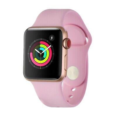 Apple Watch Series 3 (38mm) - Gold Case w/ Pink Sport Band GPS + LTE MQJQ2LL/A
