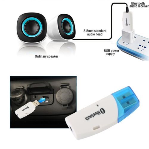 BT V4.0 Receiver Music Audio Dongle 3.5mm AUX to USB Adapter Car Speaker