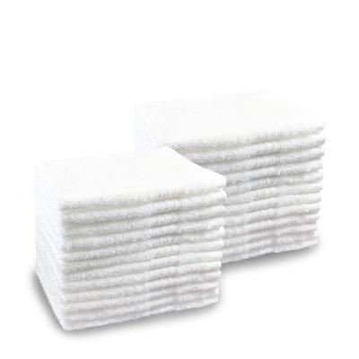 """5 Dozens / 60 white 100% Cotton Terry White  Hotel Wash Cloths 12"""" X 12"""" 15 Oz"""