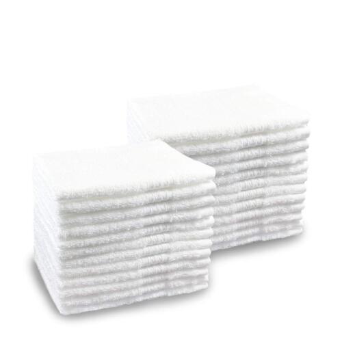 """5 Dozens / 60 white 100% Cotton Terry White  Hotel Wash Cloths 11"""" X 11""""  11oz"""
