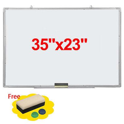 """35x23"""" Single Side Magnetic Writing Whiteboard Office School Dry Erase Board"""